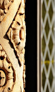 foundational ornate pillar